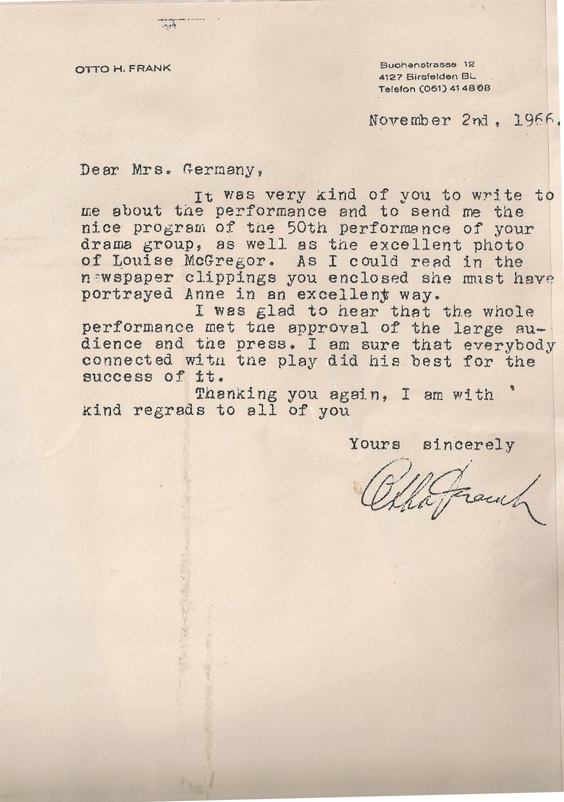 Essay On Anne Frank