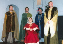 A Family at War. (l to r) Richard the Lionheart, Prince Geoffrey, Queen Eleanor of Aquitaine, Prince John, King Henry II.